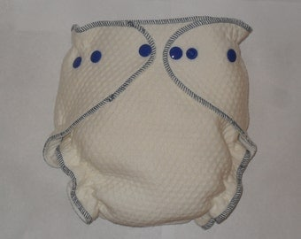 Zorb 2 Fitted diaper with Royal blue snaps