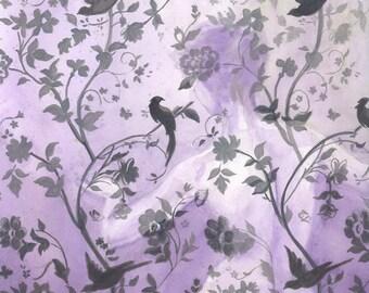 Wallflower in Violet - 12x12 Original Framed Watercolor