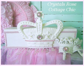 Pink Princess Bed Crown Canopy Fleur De Lis Teester and Matching Crown Hooks Nursery Girls Room & Bed crown canopy | Etsy
