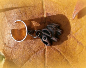 Tiny Copper Elephant Ear Cuff,Good Luck Elephant,Good Luck Jewelry,Gifts for Her,Cartilage Earrings,Non Pierce,Ready to ship,Direct Checkout