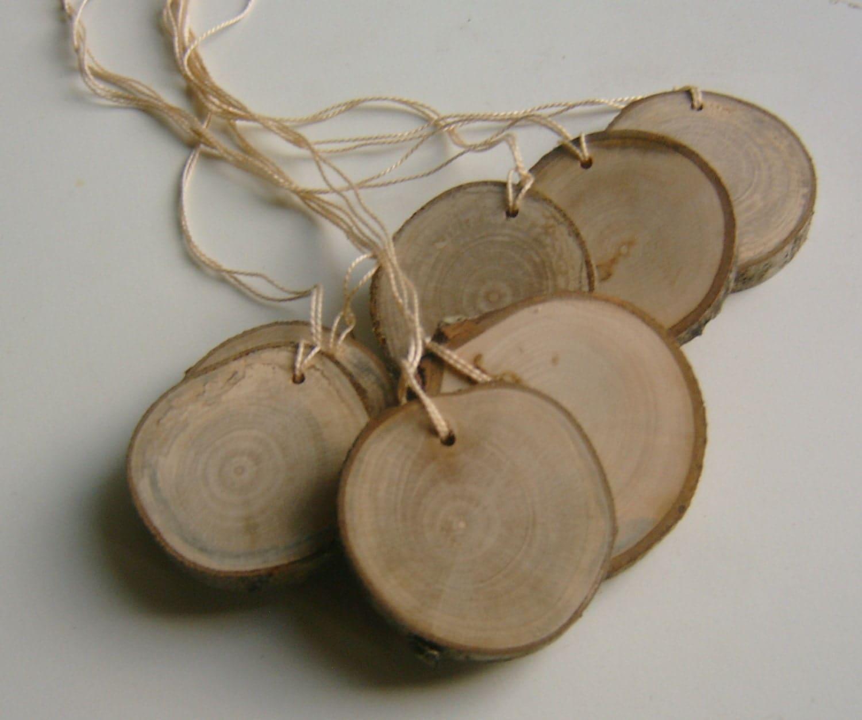 Diy Christmas Name Ornaments: 25 Small Wooden Hang Tag Diy Ornament Bag Tag Blank Name Tag