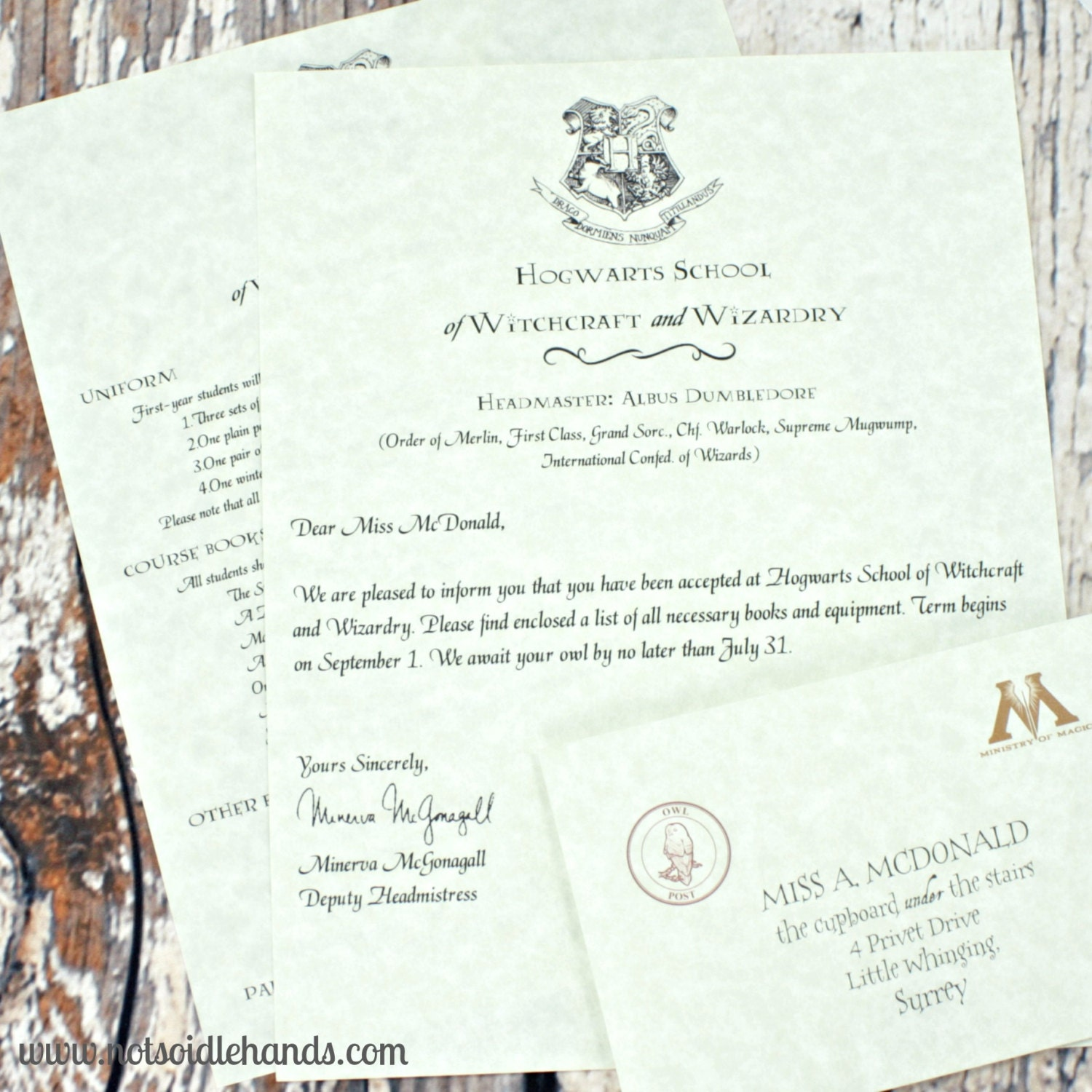 harry potter letters custom harry potter acceptance letter with printed parchment 22097 | il fullxfull.641726037 prum
