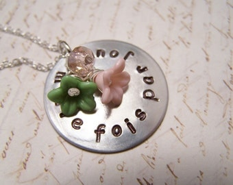 French Necklace. Thinking of you. Her Quiet Obsession. Love. Loss. Missing you. Je Pense De Toi Mille Fois Par Jour