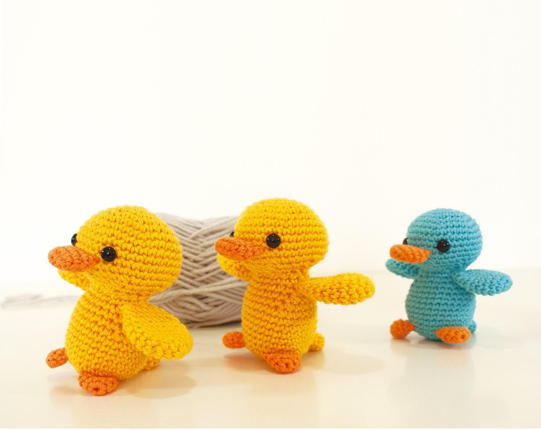 Crochet pattern Duck - amigurumi animal toy pattern ...