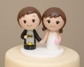 Topper for the month of March- Personalized Cake Topper  Batman Superhero Kokeshi Cake Topper - Wooden Wedding Cake Topper