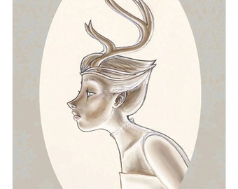 Antlers - Original Illustration limited edition fine art gicleé print