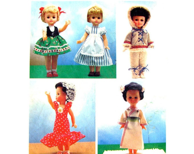 National Costumes Doll Clothes Pattern Style 2094 Size 18 inch Vintage