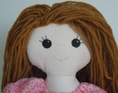 Red Haired Rag Doll - Ginger Haired Doll - Red Headed Soft Doll - Dress Up - Handmade - Doll for Girl - Stuffed Doll - Washable