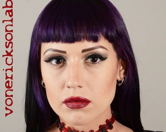 Stitches choker necklace - Bright Red Extreme