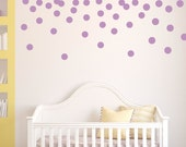 """Polka Dot Wall Decals, Dot Wall Stickers, Wall Decals, Nursery and Children, 3"""" Polka Dots"""