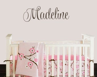 Childrens Wall Decals - Personalized Decal - Girl Name Decal - Custom Name Decal - Baby Name - Nursery Wall Decal