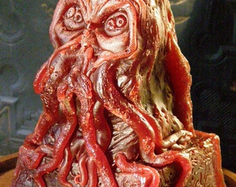 Wine Red Spawn of Cthulhu Candle