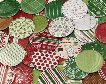 250 Pocket Mirrors 2 1/4 inch - Wedding Bridal Shower Favors - Christmas Collection