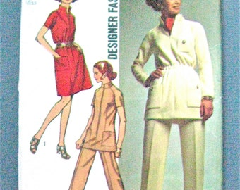 UNCUT Late 60s or Early 70s Simplicity 8914 Sewing Pattern  Bust 36 inches
