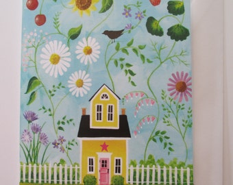 Happy Summer Blank Card with Envelope