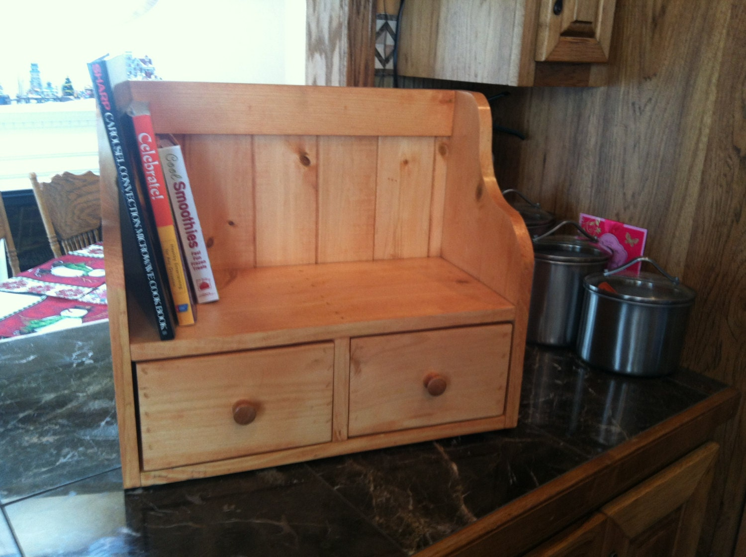 Cook Book Recipe Display Rack Counter Top By