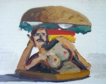 Burt Reynolds Burger with Tits