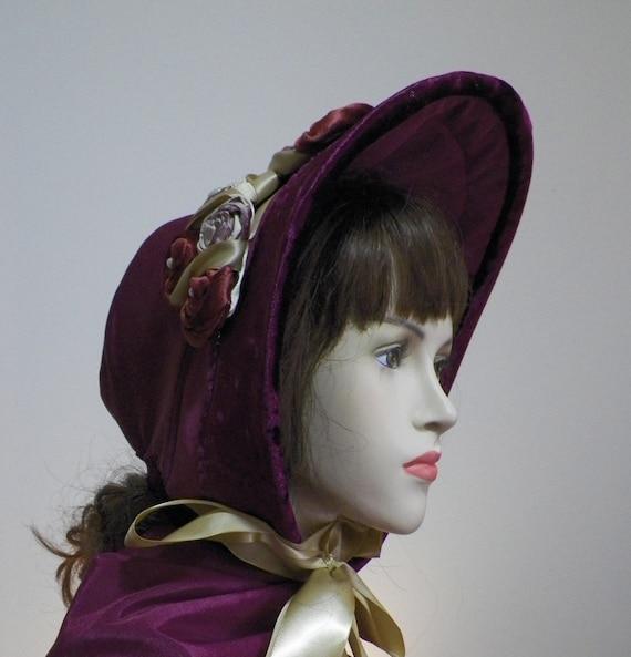 Regency Jane Austen Victorian Civil War Dickens SASS 1800's Wild West  Custom Made Spoon Bonnet