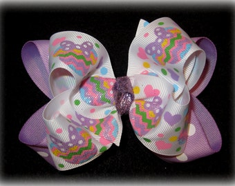 Easter Hairbows, Minnie Mouse Easter Bows, Minnie Mouse Hair Bows, Easter Hair Bows, Girls Easter Bows, Spring Bow, Pastel Bows, Minnie Band
