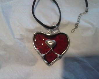 Stained Glass Heart Necklace