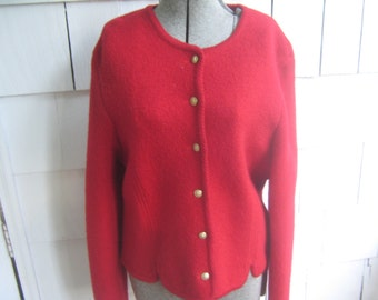 Vintage Red Wool Jacket Austrian Style