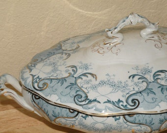 1902-1926 Dudson Wilcox & Till Oval Covered Vegetable