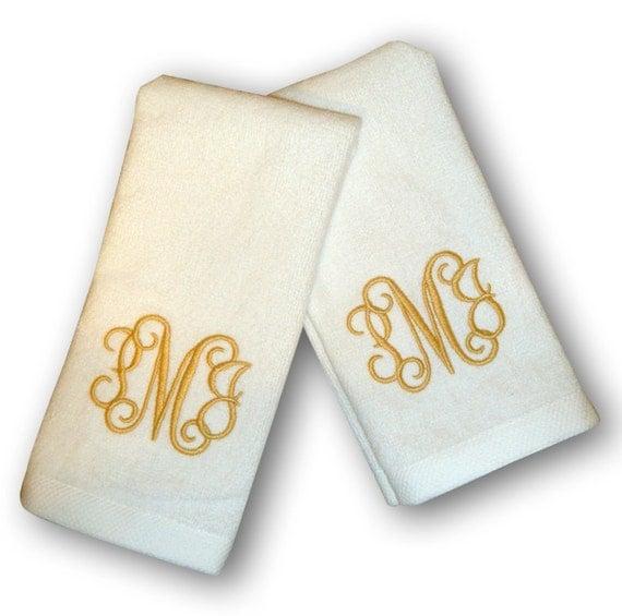 Monogrammed Finger Tip Towels Set Of Two
