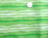 "Sale Wonky Lime Green Stripe 100% Cotton Fabric 1 yd x 44"""