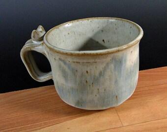 Stoneware Soup, Chili, Chowder Mug Subtle Dragonfly Design