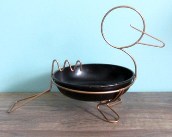 Mid-century Duck Wire and Metal Ashtray