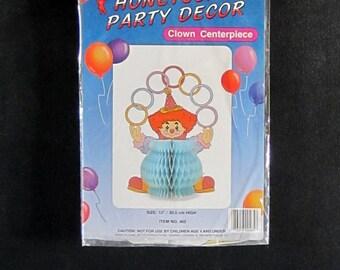 Honeycomb party clown centerpiece