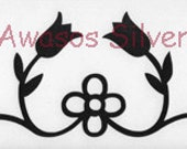 Ojibwe style floral decal