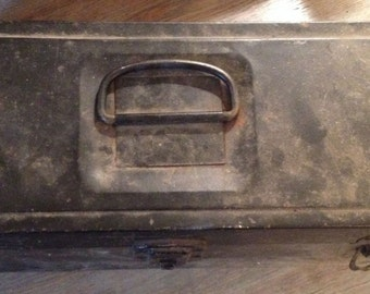 Vintage Black Old Tool Box from SK Tools