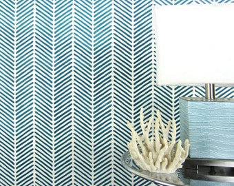 Herringbone Stitch Allover Stencil - Reusable stencils for  DIY wall decor - Better than wallpaper!