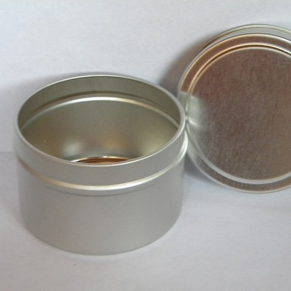 Empty metal tins with lids 4 oz tins 10 qty round for Small tin containers