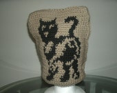 Cat Graphic Hat with Question Mark Tail