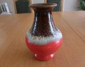 Old Retro West-German Pottery Vase Fat Lava 1960s