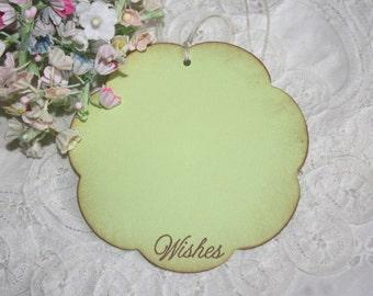 Wish Tree Wedding Tags - Lime Green Flowers - Birthday Wish Tags - Shower Wish Tags