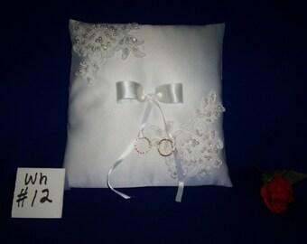 Ring Bearer Pillow  (white #12)