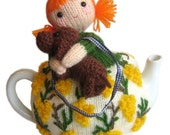 Beatrice and  Toby Dog Tea Cosy PDF Email Knit PATTERN