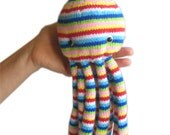 Rainbow OCTOPUS Pdf Email knit PATTERN