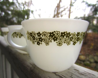 Vintage Pyrex Spring Blossom Cups
