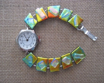 Fused Glass Dichroic Watch
