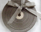 Vintage 1930's-40's French Woven Ribbon -Milliners Stock- 5/8 inch Deep Taupe