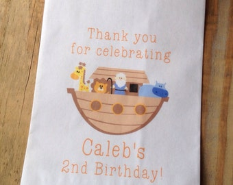 Noah's Ark Personalized Favor Bags Birthday Baby Shower