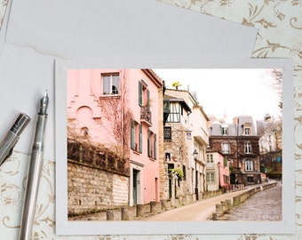 Paris Photo Notecard - Spring Blossoms in Parc Monceau, Cherry Blossoms, Floral Stationery, Blank Notecard