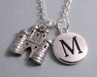 Castle Charm Silver Plated Charm Jewelry Supplies