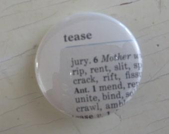 Tease Vintage Thesaurus Pin