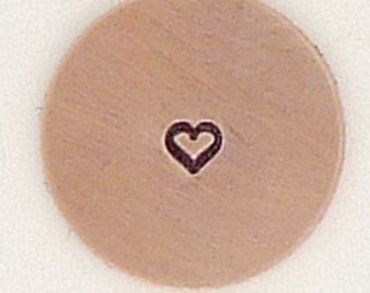 1.5mm Tiny Heart Metal Design Stamp - Metal Jewelry Stamping Tool The Urban Beader