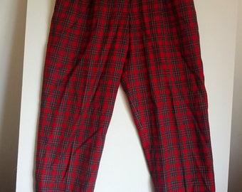 Giorgio Sant Angelo plaid pants pant trousers slacks suit 14 tartan Bulgarian punk boho grunge